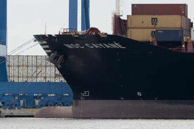 El barco fue revisado por las fuerzas que combaten el narcotráfico.