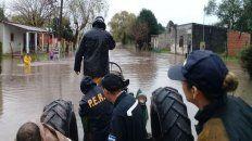 regresan a sus casas, los evacuados por el temporal en tala