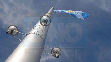 el acto del dia de la bandera sera en el parque varisco