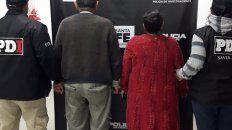 IMPUTADOS. Bibiana G,, de 59 años, y Sixto, de 83, fueron detenidos en un operativo el viernes.