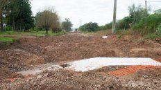 Trabajos. Se ejecuta un nuevo sistema de desagües pluviales constituido por canales de hormigón.