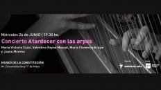 concierto de arpas en el museo de la constitucion
