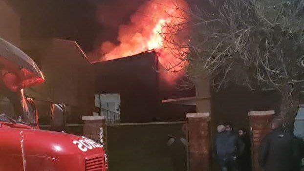 Se incendió por completo una casa de electrodomésticos en Chajarí