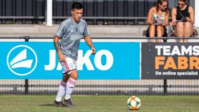 El entrerriano jugó su primer partido con la camiseta del Ajax
