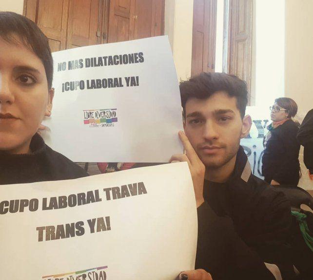 Integrantes del MST Nueva Izquierda celebraron la conquista de derechos.