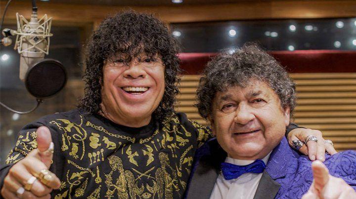 Carlitos y Cacho en la grabación.