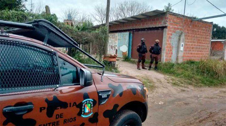 Cocaína, dinero, armas y un detenido: allanamientos en Diamante