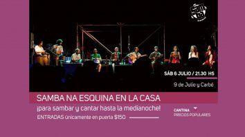 samba na esquina en la casa de la cultura
