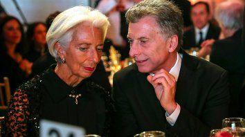 ChristineLagarde y el presidente Macri.