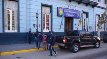 tres detenidos por el violento asalto en una escribania de victoria