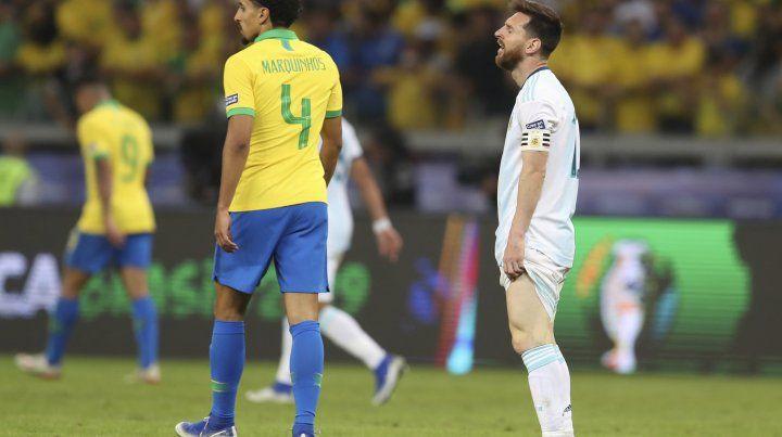 Messi hizo un buen partido pero no alcanzó.