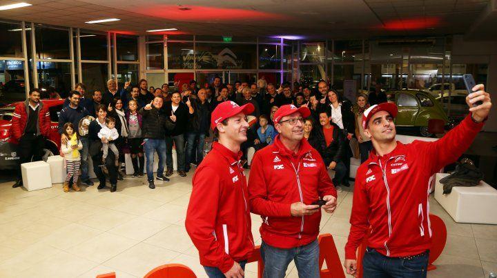 El Team Citroën estuvo con sus seguidores