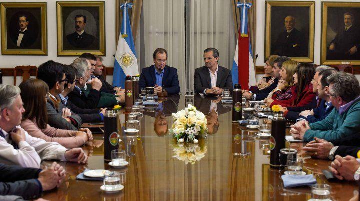 Bordet recibió a los intendentes electos de Cambiemos