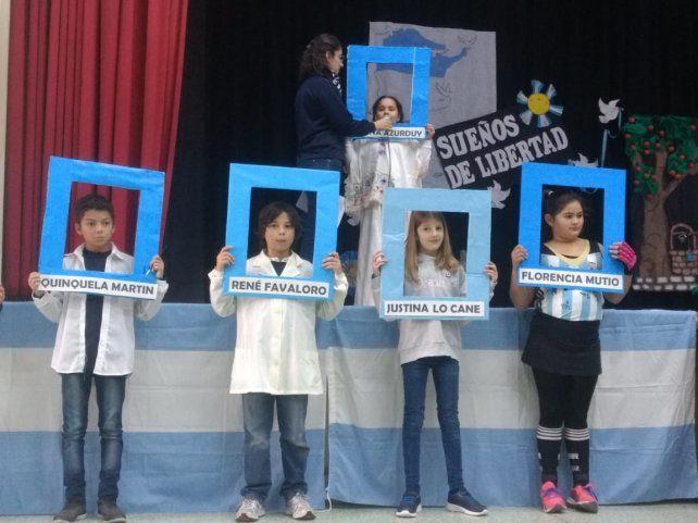 Acto escolar por el 9 de Julio recordó el legado de Justina