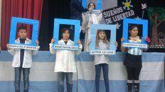 acto escolar por el 9 de julio recordo el legado de justina