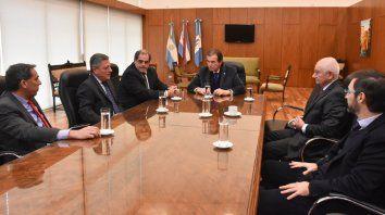 Las máximas autoridades del banco se reunieron con los referentes de la justicia.