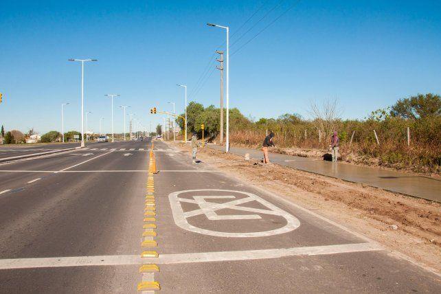 Las obras viales brindarán mayor seguridad a los ciclistas.