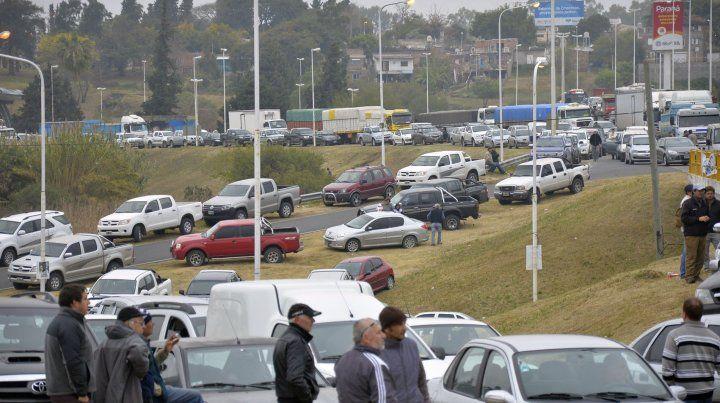 La protesta de los productores en junio 2015 causaron un caos en el tránsito.