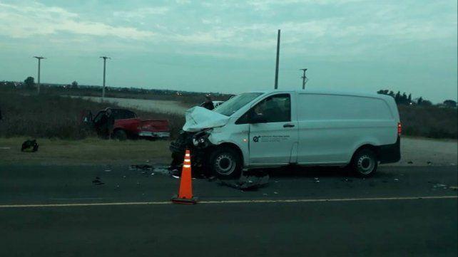 Al ingresar a ruta 18 colisionó con un vehículo del Servicio Penitenciario