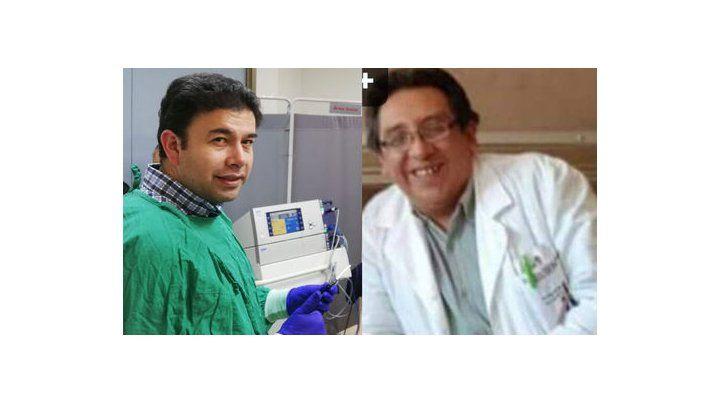 El doctor Gustavo Vidales (izq.) y el doctor Marco Ortiz (der.)