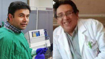 El doctor Gustavo Vidales (izq.) y el doctor Marco Ortiz (der.), ambos infectados con arenavirus.