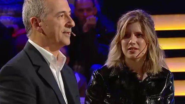 Laurita Fernández acompañó a su papá a ¿Quién quiere ser millonario?