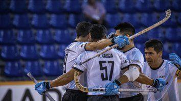 El festejo de los jugadores argentinos.