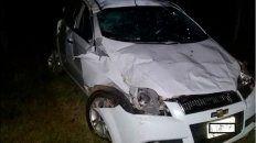 Así quedó el auto después del violento accidente.