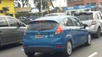 Foto propia. La víctima hizo lo correcto, tomar la imagen del vehículo con la patente incluida.