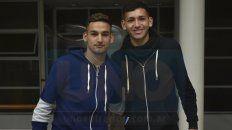 Ganarse un lugar. Barreto y Vázquez saben que será difícil, pero trabajan para poder sumar muchos minutos en la Superliga.