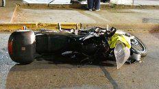 motociclista choco a dos monjas que cruzaban avenida ramirez