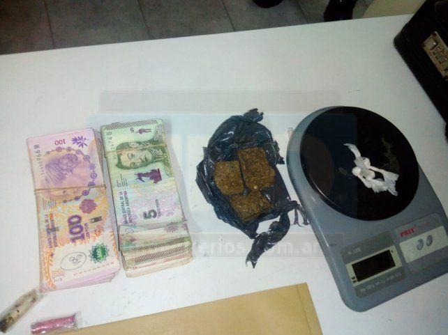 Detenidos con drogas y dinero en un control policial en ruta