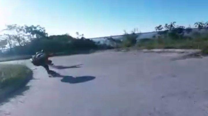 Captura de pantalla del video filmado en Paraná.