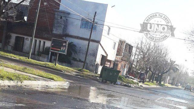 Aguas servidas en Gutierrez y Pirán
