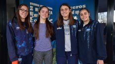 De Selección. Julia Marchetti, Agustina Rupp, Nahir Rodríguez y Delfina Basconcel representarán a Argentina en distintas competencias internacionales, todo un orgullo para la provincia.