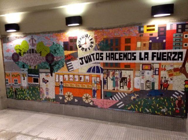 Inauguraron un mural urbano