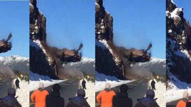 Video: Así fue el impresionante derrumbe en ruta 40
