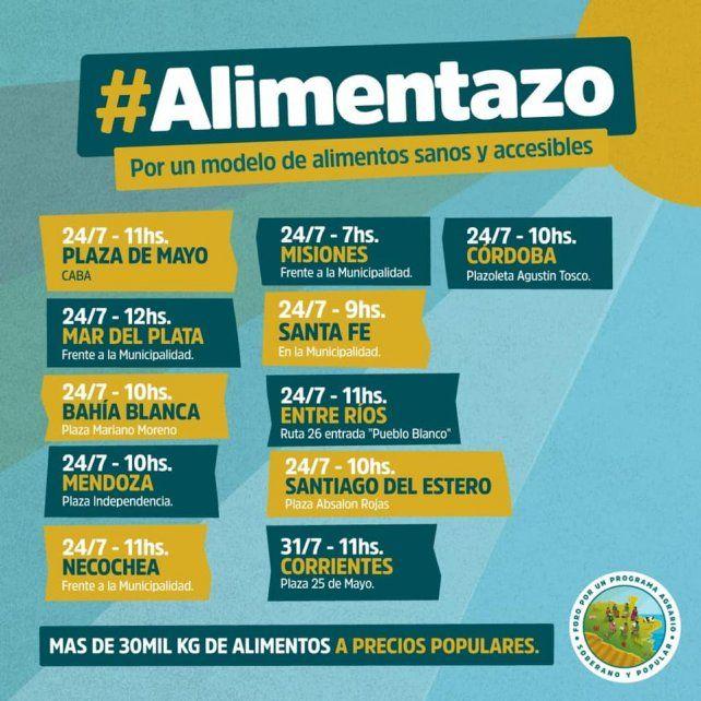 Miércoles de Alimentazo en Paraná y San José