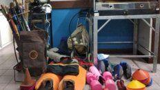 recuperaron los elementos robados a escuela de hockey y grupo scout