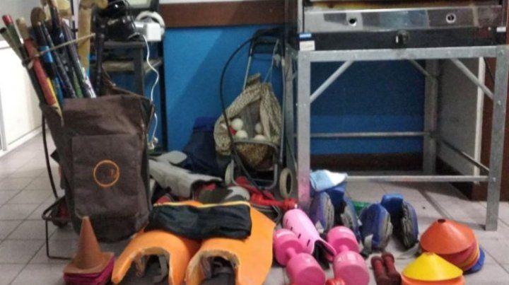 Recuperaron los elementos robados en Los Ángeles Custodios y predio de scouts