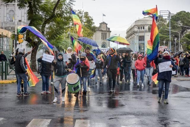 Marcha para reclamar justicia por el transfemicidio de La Loba