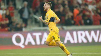 Alexis Mac Allister marcó el gol de Boca. Es la primera vez que un padre y un hijo hacen goles en la Primera Xeneize, Carlos hizo 6 con la misma casaca.