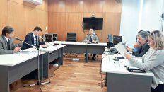 AUDIENCIA. El juez Vírgala no hizo lugar al planteo de la querella de enviar a la cárcel a los detenidos.