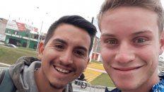 Amigos. Marcos (izquierda), junto a Scialocomo, el jugador de la selección. Foto: Facebook