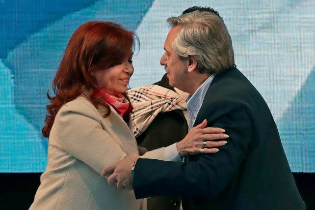 La fórmula. Cristina y Alberto han estado muy poco en actos del peronismo.
