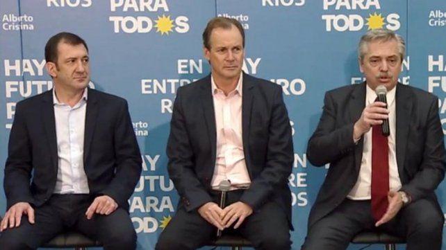 Fernández . El candidato del Frente de Todos estuvo en Paraná a principios de la semana pasada.