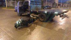 fallecio un motociclista accidentado el viernes