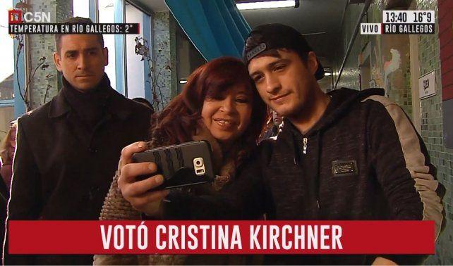 Cristina Fernández votó en Río Gallegos