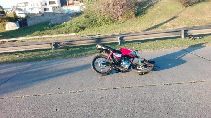 Murió el motociclista que se había accidentado esta mañana