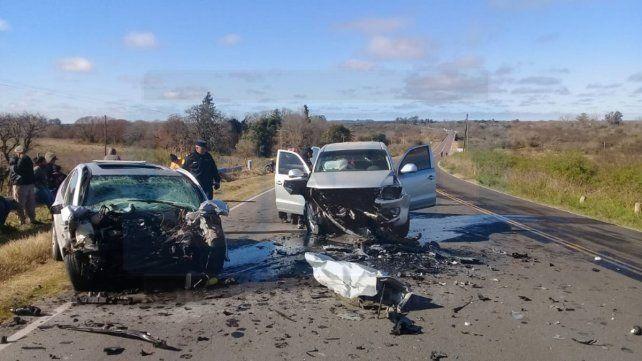 Un muerto y tres heridos en un choque en ruta 11